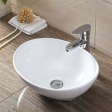 Waschbecken, Modern Oval Gloss White