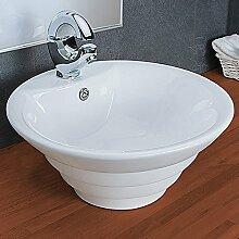 Waschbecken Rund Keramik Aufsatzwaschbecken KR134