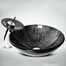 Waschbecken, Schwarz Weiß Rund Waschbecken aus