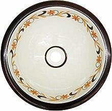 Waschbecken Spülbeckensieb Rustico Keramik rund