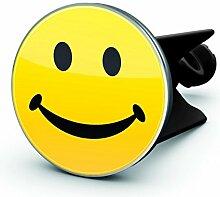 Waschbecken- Stöpsel Motiv: 'Smiley' in gelb- schwarz