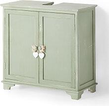 Waschbecken-Unterschrank Carlotta, grün