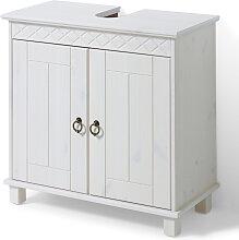 Waschbecken-Unterschrank Isa, weiß