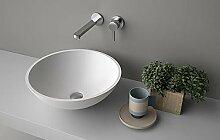 Waschbecken-Unterstützung Planit Concave Aufsatzwaschtisch aus Corian concave1
