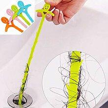 Waschbecken verstopft Haarreiniger Haken