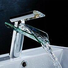 Waschbecken Wasserfilter Led Wasserfall Glas