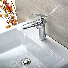 Waschbecken Wasserhähne mit Schlitzen für das