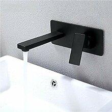 Waschbecken Wasserhähne schwarz Badezimmer Wand
