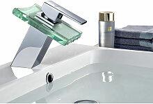 Waschbecken Wasserhahn Bad LED RGB Glas