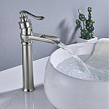 Waschbecken Wasserhahn Deck Montiert Nickel
