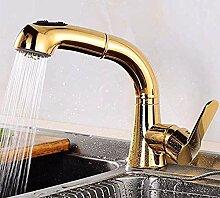 Waschbecken Wasserhahn Gold versenkbare