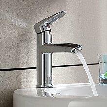 Waschbecken Wasserhahn, heißes und kaltes Kupfer,