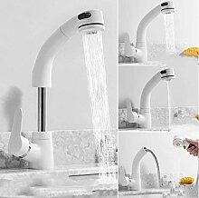 Waschbecken Wasserhahn Messing Küche weiß mit