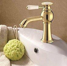 Waschbecken Wasserhahn Messing und Keramik