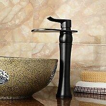 Waschbecken Wasserhahn mit antiken ORB Finish Wasserfall Centerset Wasserhahn , 58 x 8 cm