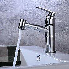 Waschbecken Wasserhahn mit Hand Duschkopf Gold