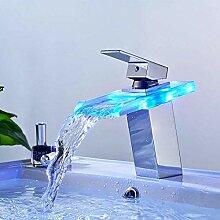 Waschbecken Wasserhahn, mit RGB 3 Farbwechsel