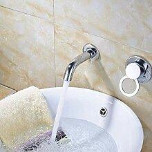 Waschbecken Wasserhahn mit verchromter Oberfläche