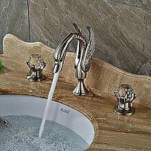 Waschbecken Wasserhahn Nickel gebürstet Auslauf