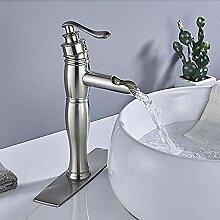 Waschbecken Wasserhahn Nickel gebürstet
