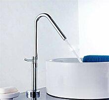Waschbecken Wasserhahn Silber Modernes Design