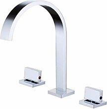 Waschbecken Wasserhahn Silber polierte