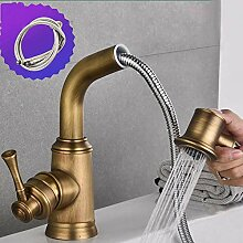 Waschbecken Wasserhahn Vintage ausziehbare