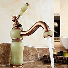 Waschbecken Wasserhahn Vintage Rose Goldene