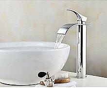 Waschbecken Wasserhahn Wasserfall Chrom Zentrum