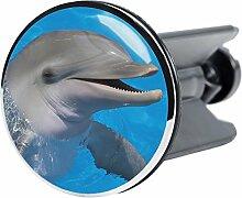 Waschbeckenstöpsel Delphin, passend für alle