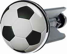 Waschbeckenstöpsel Fußball, passend für alle