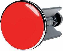 Waschbeckenstöpsel Rot, passend für alle