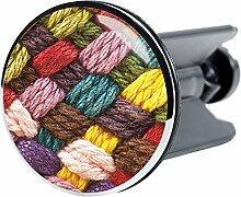 Waschbeckenstöpsel Wolle, passend für alle