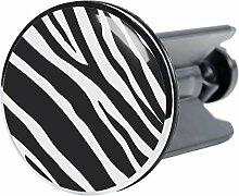 Waschbeckenstöpsel Zebra, passend für alle