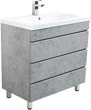 Waschbeckenunterschrank in Beton Grau modern