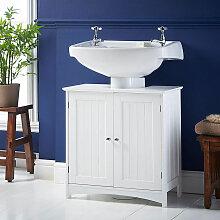 Waschbeckenunterschrank mit 2 Türen Unterschrank