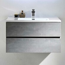 Waschkommode in Beton Grau Optik modern