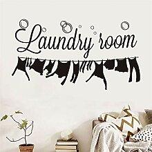 Waschküche Abziehbilder Wandaufkleber Abnehmbare