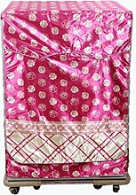 Waschmaschine Abdeckung Verdickung Oxford-Tuch Rolle Waschmaschine Sets Wasserdicht Sonnenschutz Staubschutzhaube , M , pink