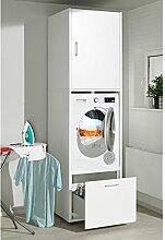 Waschmaschinenschrank Melamin Größe L 67x65x233 cm Waschmaschinenüberbau Einbau-Schrank Wäschetrockner
