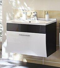Waschplatz mit Schubfach in anthrazit-weiß; Maße