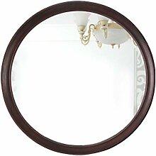 Waschraum-Zubehör Große Retro Holz Runde Spiegel