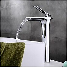 Waschtisch-Armatur mit Wasserfallstrahl,
