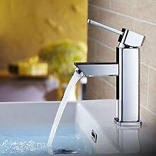 Waschtisch-Mischbatterie mit heißem und kaltem Wasser Einzelhandgriff Einloch-Waschbecken Wasserhahn , a