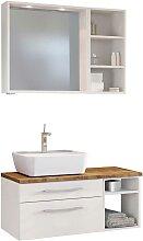 Waschtisch mit Badspiegel und Regal Weiß und
