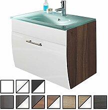 Waschtisch Set Tossens Walnuss-weiß (Waschbecken