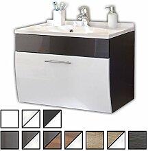 Waschtisch Set Varel Anthrazit, Weiß (Waschbecken