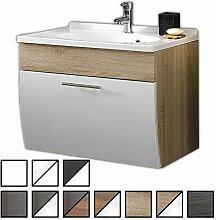 Waschtisch Set Varel Sonoma-Eiche (Waschbecken mit