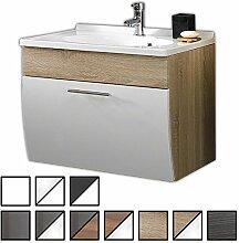 Waschtisch Set Wendum Sonoma-Eiche (Waschbecken