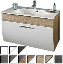 Waschtisch Set Zettel Sonoma-Eiche (Waschbecken